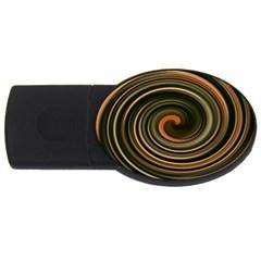 Strudel Spiral Eddy Background Usb Flash Drive Oval (2 Gb)