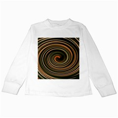 Strudel Spiral Eddy Background Kids Long Sleeve T-Shirts