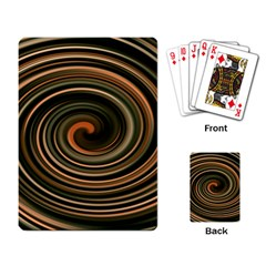 Strudel Spiral Eddy Background Playing Card