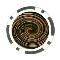 Strudel Spiral Eddy Background Poker Chip Card Guard