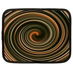Strudel Spiral Eddy Background Netbook Case (XL)