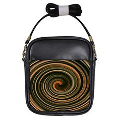 Strudel Spiral Eddy Background Girls Sling Bags