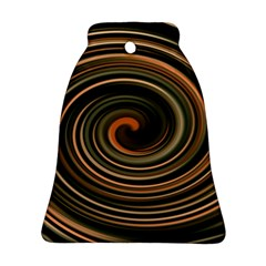 Strudel Spiral Eddy Background Bell Ornament (Two Sides)