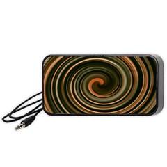 Strudel Spiral Eddy Background Portable Speaker (black)