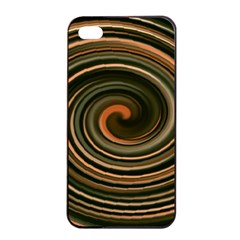 Strudel Spiral Eddy Background Apple Iphone 4/4s Seamless Case (black)