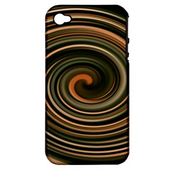 Strudel Spiral Eddy Background Apple iPhone 4/4S Hardshell Case (PC+Silicone)