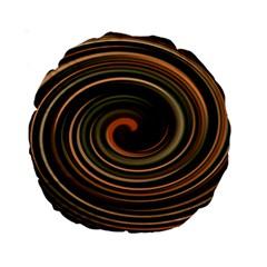Strudel Spiral Eddy Background Standard 15  Premium Round Cushions