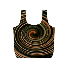 Strudel Spiral Eddy Background Full Print Recycle Bags (s)