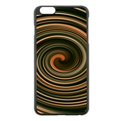 Strudel Spiral Eddy Background Apple Iphone 6 Plus/6s Plus Black Enamel Case