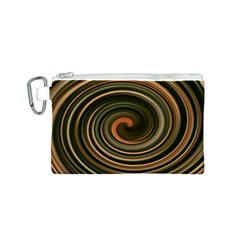 Strudel Spiral Eddy Background Canvas Cosmetic Bag (s)
