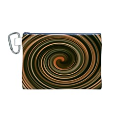 Strudel Spiral Eddy Background Canvas Cosmetic Bag (m)