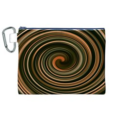 Strudel Spiral Eddy Background Canvas Cosmetic Bag (xl)