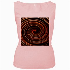 Strudel Spiral Eddy Background Women s Pink Tank Top