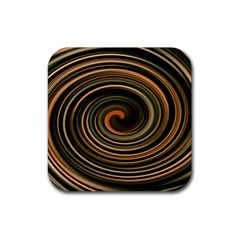 Strudel Spiral Eddy Background Rubber Square Coaster (4 Pack)