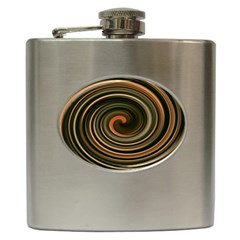 Strudel Spiral Eddy Background Hip Flask (6 oz)
