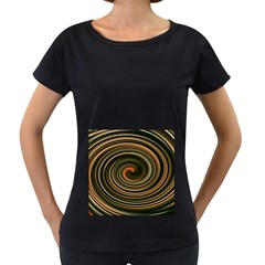 Strudel Spiral Eddy Background Women s Loose Fit T Shirt (black)