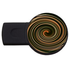 Strudel Spiral Eddy Background Usb Flash Drive Round (4 Gb)
