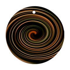 Strudel Spiral Eddy Background Round Ornament (two Sides)