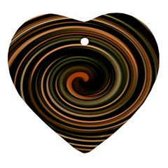Strudel Spiral Eddy Background Heart Ornament (Two Sides)