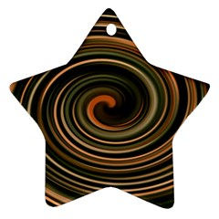 Strudel Spiral Eddy Background Star Ornament (two Sides)