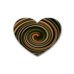 Strudel Spiral Eddy Background Heart Coaster (4 pack)