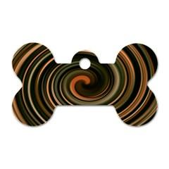 Strudel Spiral Eddy Background Dog Tag Bone (Two Sides)