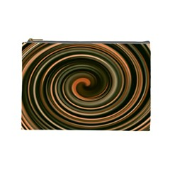 Strudel Spiral Eddy Background Cosmetic Bag (large)