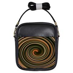 Strudel Spiral Eddy Background Girls Sling Bags