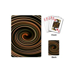 Strudel Spiral Eddy Background Playing Cards (Mini)