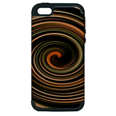Strudel Spiral Eddy Background Apple Iphone 5 Hardshell Case (pc+silicone)