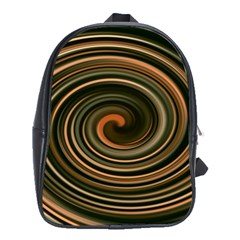 Strudel Spiral Eddy Background School Bags (XL)