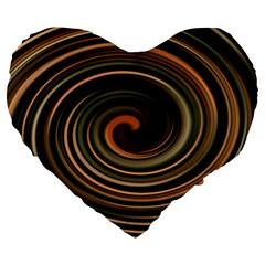 Strudel Spiral Eddy Background Large 19  Premium Heart Shape Cushions
