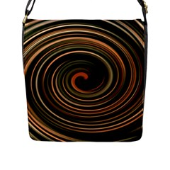 Strudel Spiral Eddy Background Flap Messenger Bag (L)
