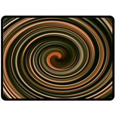 Strudel Spiral Eddy Background Double Sided Fleece Blanket (large)