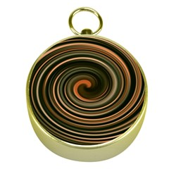 Strudel Spiral Eddy Background Gold Compasses