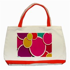 Paint Circle Red Pink Yellow Blue Green Polka Classic Tote Bag (Red)