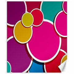 Paint Circle Red Pink Yellow Blue Green Polka Canvas 8  x 10