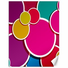 Paint Circle Red Pink Yellow Blue Green Polka Canvas 12  x 16