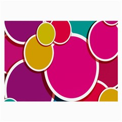 Paint Circle Red Pink Yellow Blue Green Polka Large Glasses Cloth (2-Side)