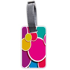 Paint Circle Red Pink Yellow Blue Green Polka Luggage Tags (One Side)