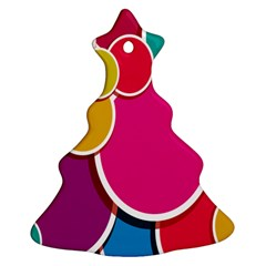 Paint Circle Red Pink Yellow Blue Green Polka Ornament (Christmas Tree)