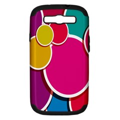 Paint Circle Red Pink Yellow Blue Green Polka Samsung Galaxy S III Hardshell Case (PC+Silicone)
