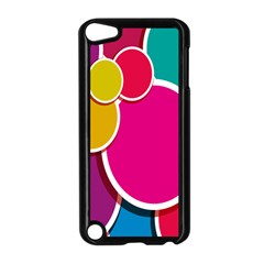 Paint Circle Red Pink Yellow Blue Green Polka Apple iPod Touch 5 Case (Black)