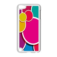 Paint Circle Red Pink Yellow Blue Green Polka Apple iPod Touch 5 Case (White)