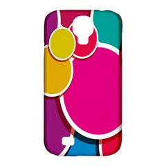 Paint Circle Red Pink Yellow Blue Green Polka Samsung Galaxy S4 Classic Hardshell Case (pc+silicone)