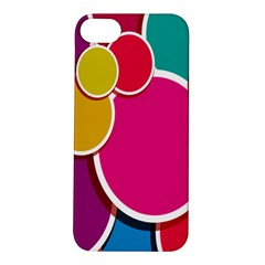 Paint Circle Red Pink Yellow Blue Green Polka Apple iPhone 5S/ SE Hardshell Case