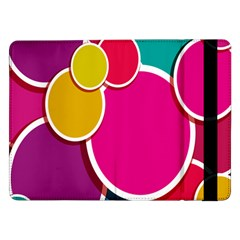 Paint Circle Red Pink Yellow Blue Green Polka Samsung Galaxy Tab Pro 12.2  Flip Case