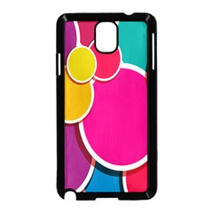 Paint Circle Red Pink Yellow Blue Green Polka Samsung Galaxy Note 3 Neo Hardshell Case (Black)
