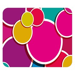 Paint Circle Red Pink Yellow Blue Green Polka Double Sided Flano Blanket (Small)
