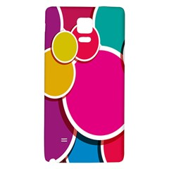Paint Circle Red Pink Yellow Blue Green Polka Galaxy Note 4 Back Case